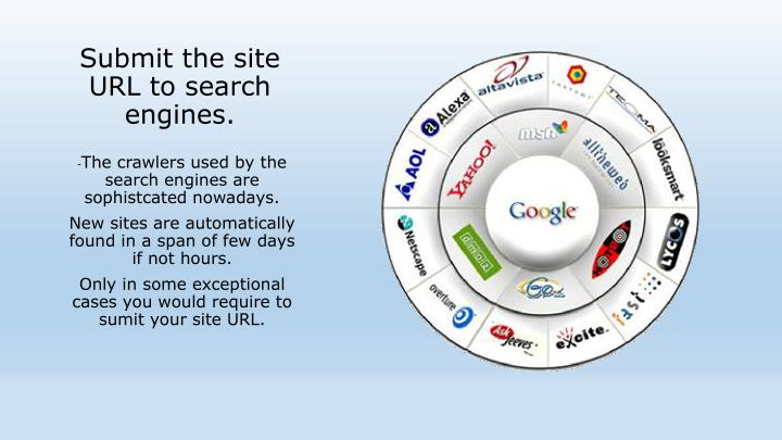 Submit the site URL to search engines.