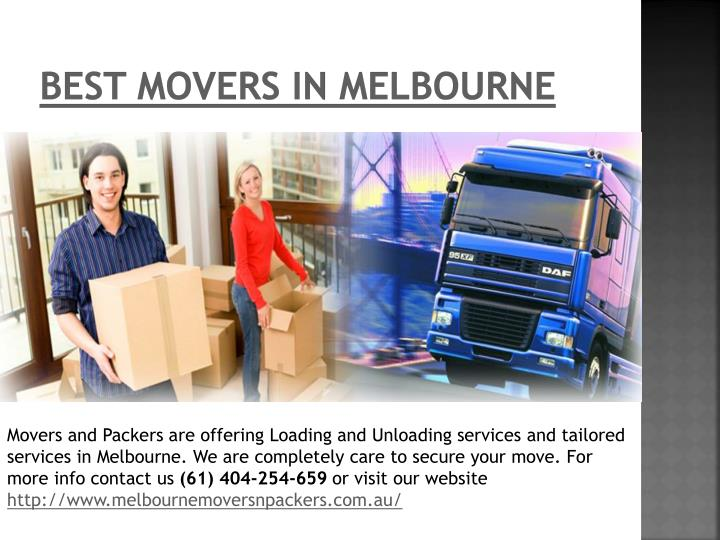 Best Movers in Melbourne