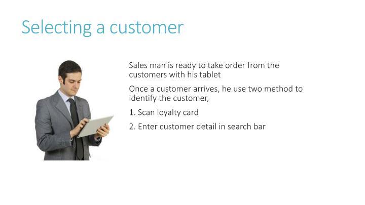 Selecting a customer