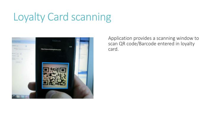 Loyalty Card scanning