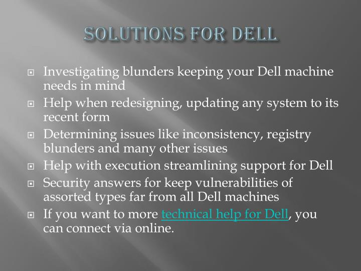 Solutions For Dell