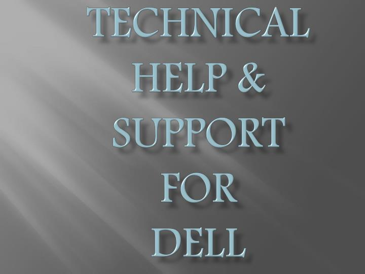 Technical help support for dell