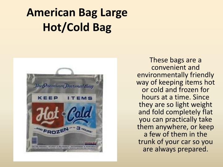 American Bag Large Hot/Cold Bag