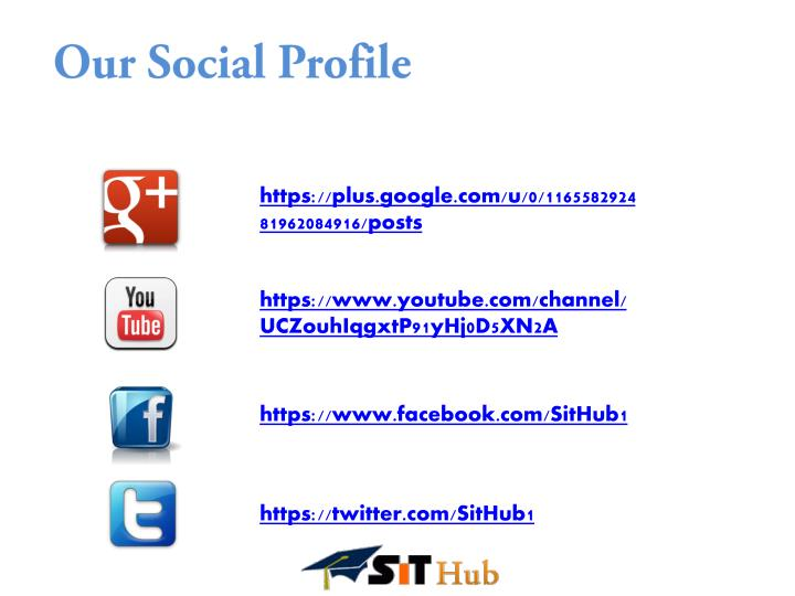 Our Social Profile