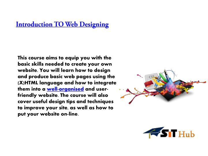 Introduction TO Web Designing