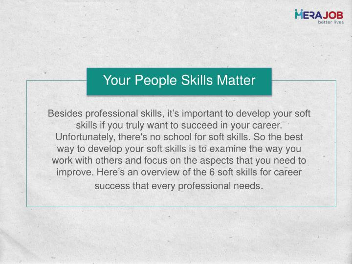Your People Skills