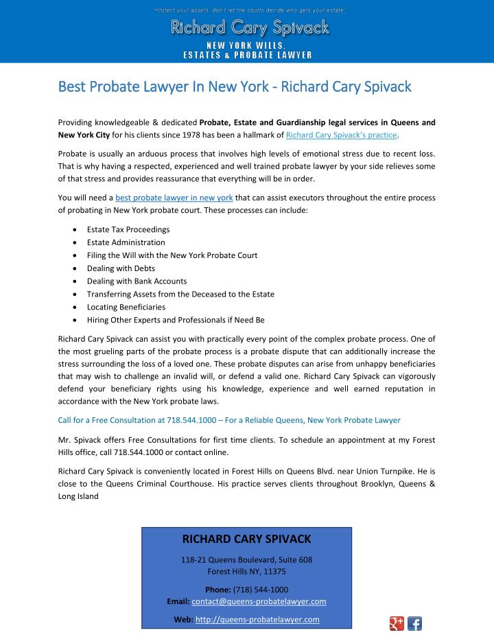 Best Probate Lawyer In New York