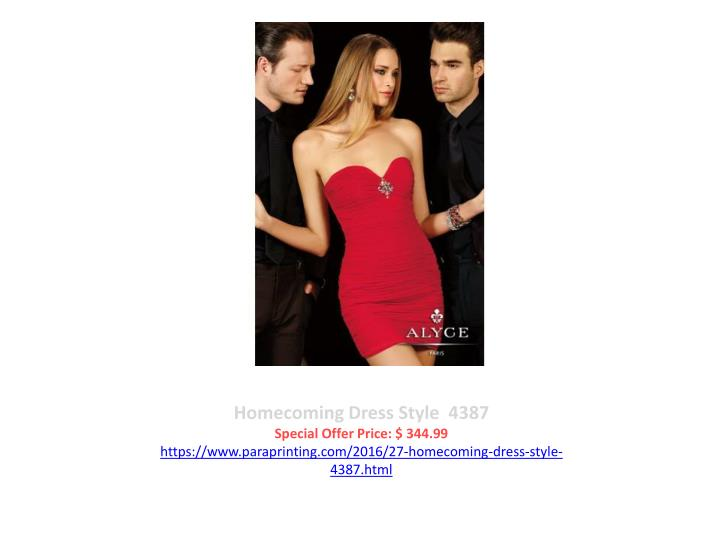 Homecoming Dress Style  4387