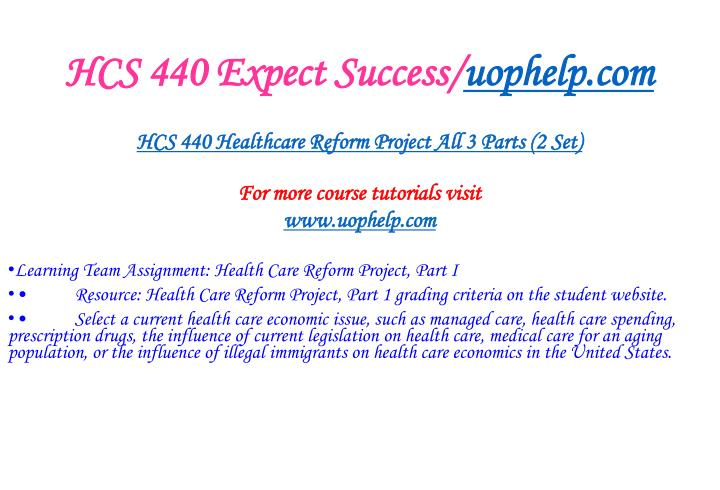 Hcs 440 expect success uophelp com2