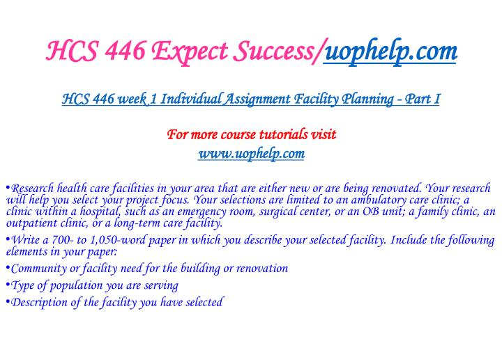 Hcs 446 expect success uophelp com2