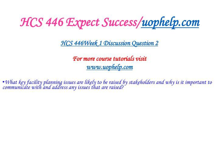 HCS 446 Expect Success/
