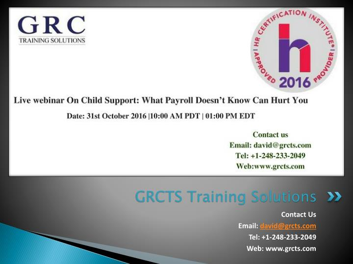 grcts training solutions n.