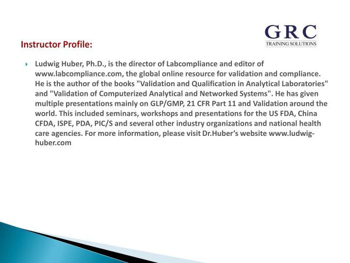 Instructor Profile: