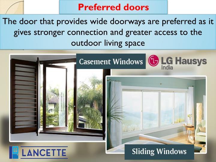 Preferred doors