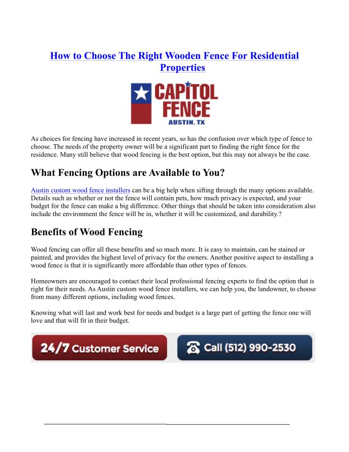 How to Choose The Right Wooden Fence For Residential