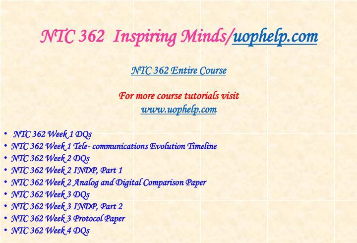 Ntc 362 inspiring minds uophelp com1