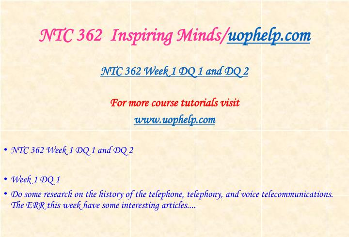 Ntc 362 inspiring minds uophelp com2