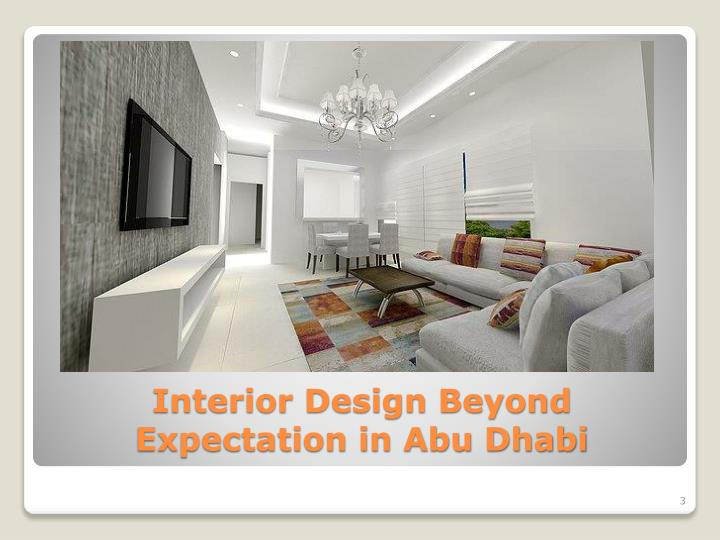 Interior design beyond expectation in abu dhabi