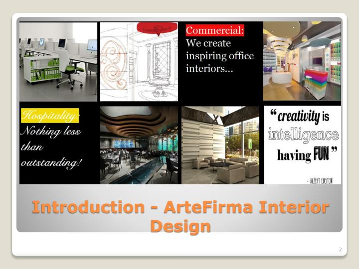 Introduction artefirma interior design
