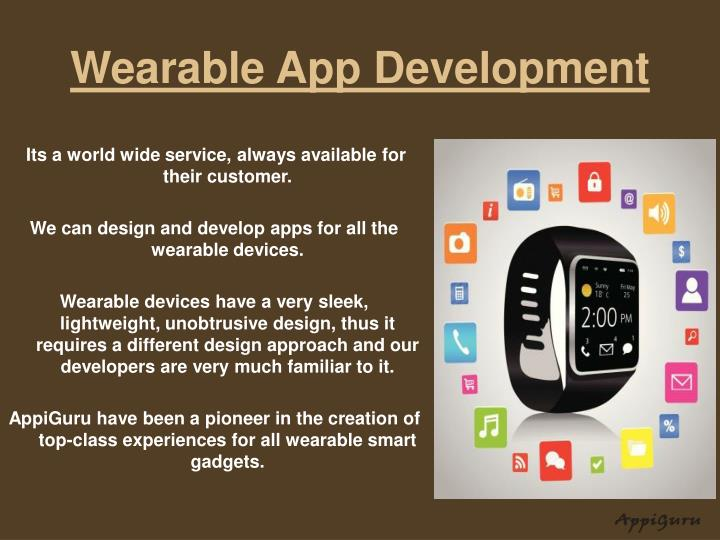 Wearable app development
