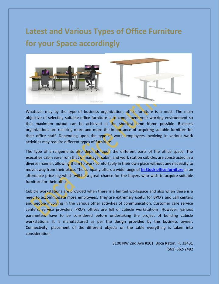 Latest and Various Types of Office Furniture