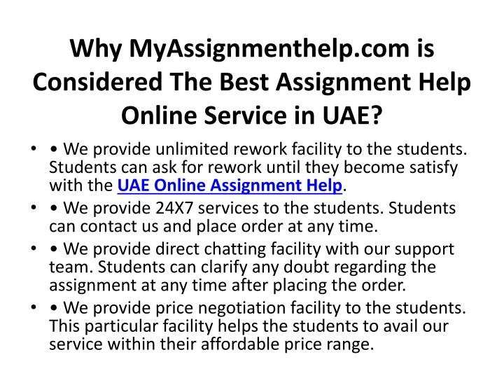 Why myassignmenthelp com is considered the best assignment help online service in uae