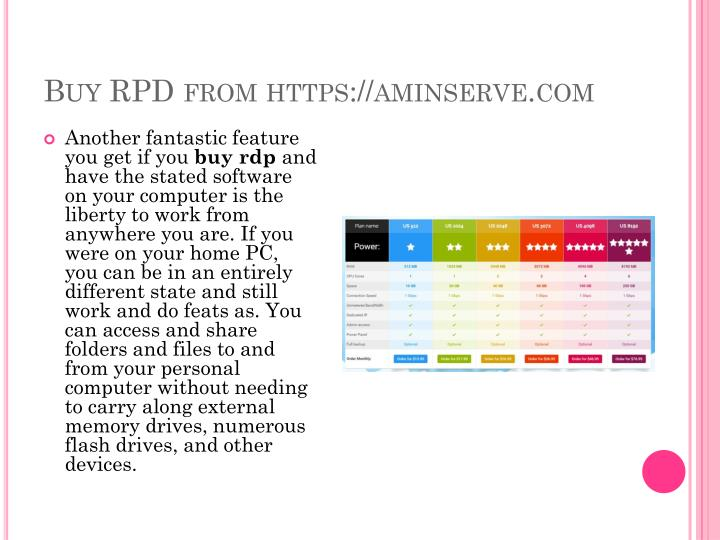 Buy rpd from https aminserve com
