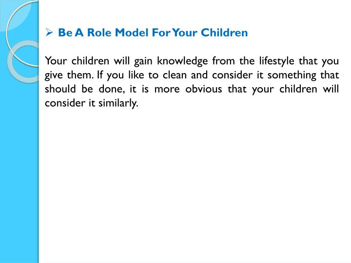 Be A Role Model For Your Children