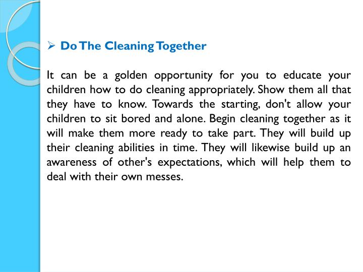 Do The Cleaning Together