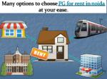 many options to choose pg for rent in noida at your ease