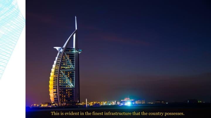 This is evident in the finest infrastructure that the country possesses.