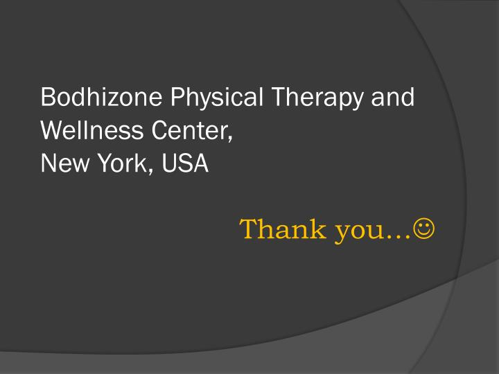 Bodhizone Physical Therapy and Wellness Center,