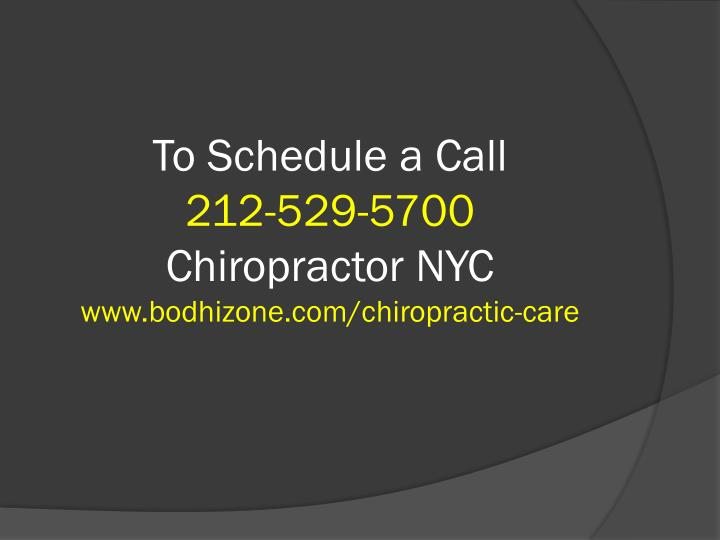 To Schedule a Call