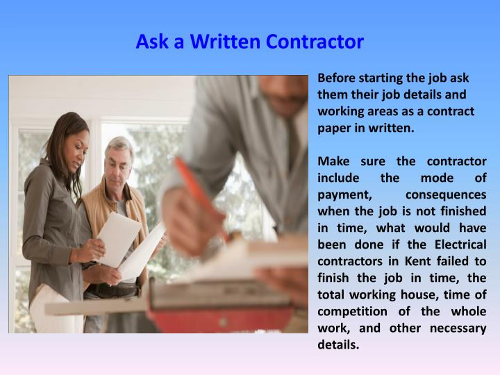 Ask a Written Contractor