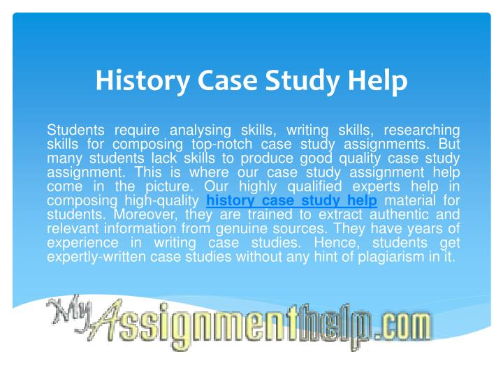History case study help