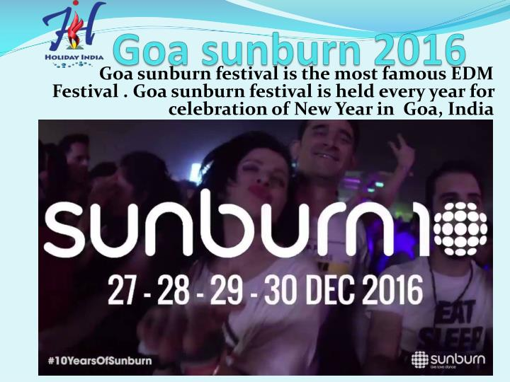 Goa sunburn 2016