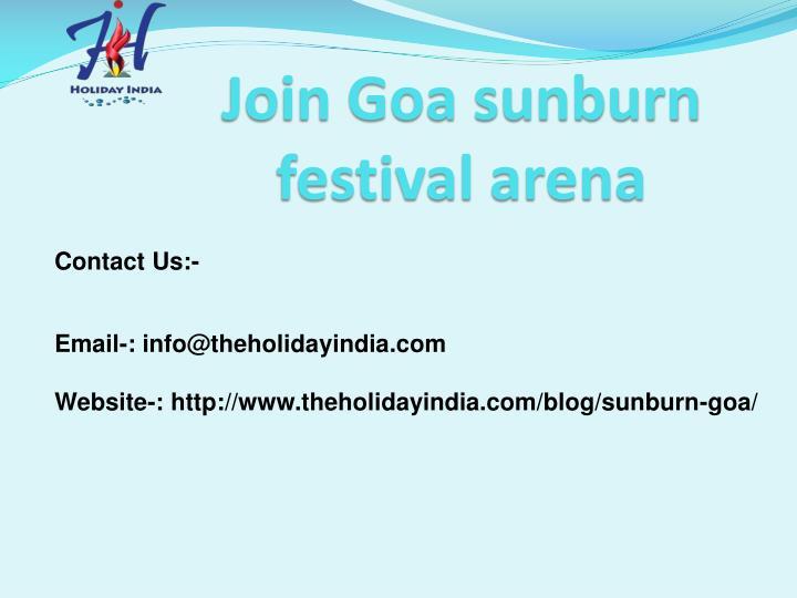 Join Goa