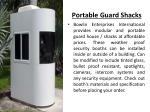portable guard shacks