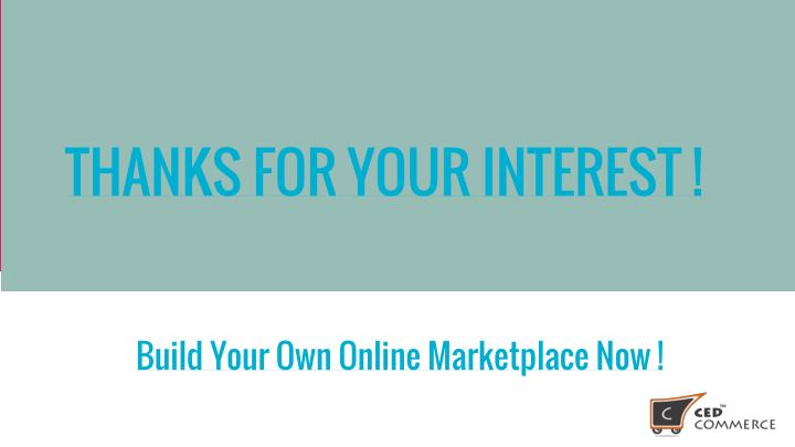 THANKS FOR YOUR INTEREST !