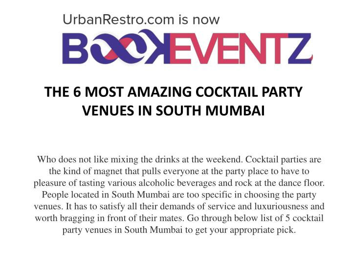 The 6 most amazing cocktail party venues in south mumbai