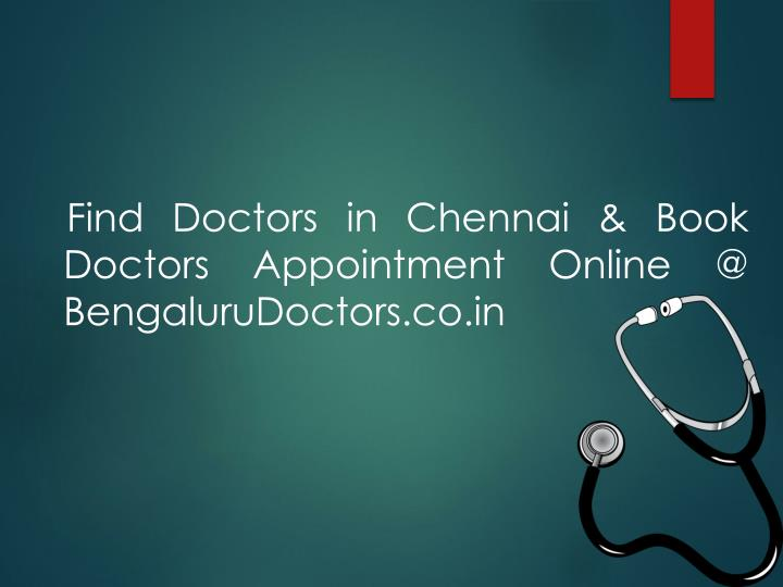 Find Doctors in Chennai & Book Doctors Appointment Online @