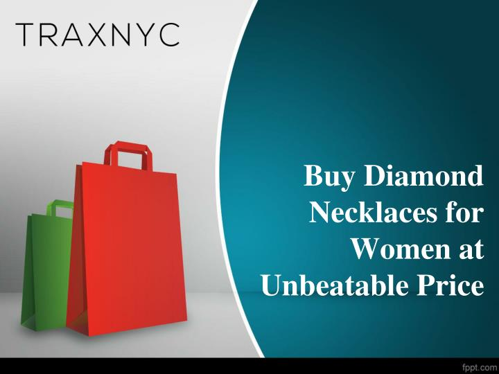 Buy diamond necklaces for women at unbeatable price