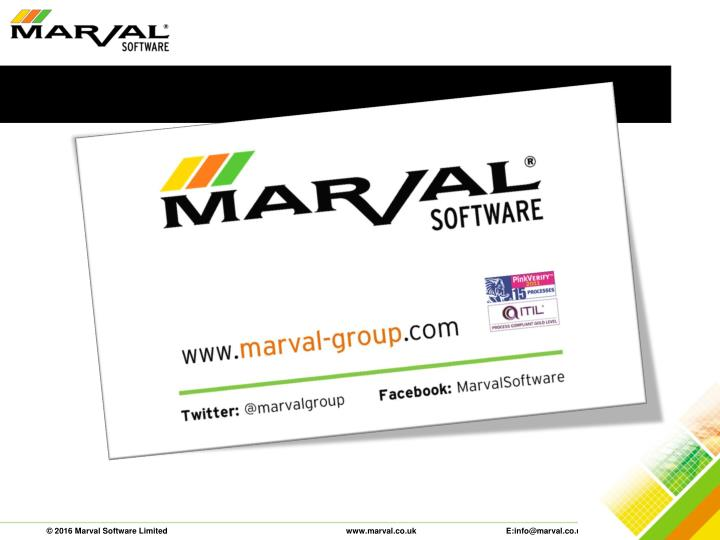 © 2016 Marval Software Limited