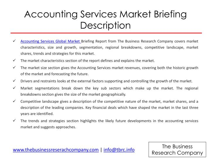 Accounting Services Market Briefing