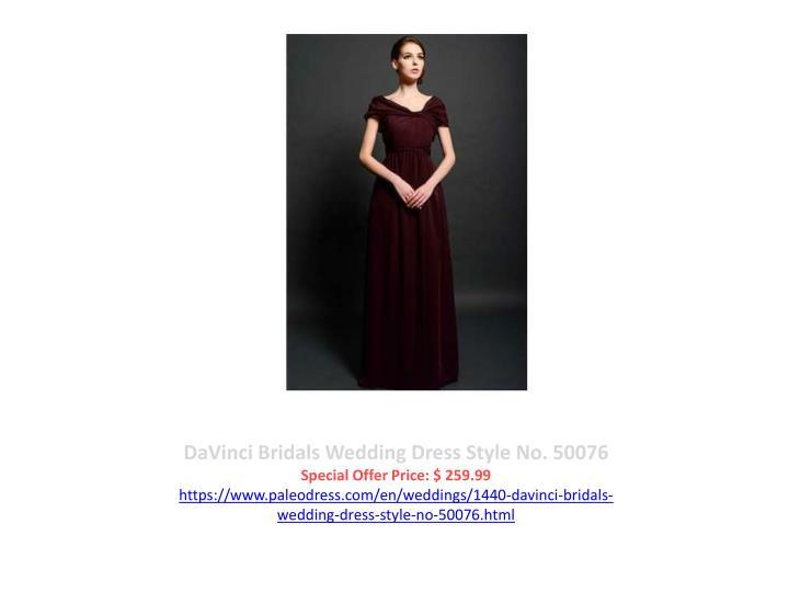 DaVinci Bridals Wedding Dress Style No. 50076