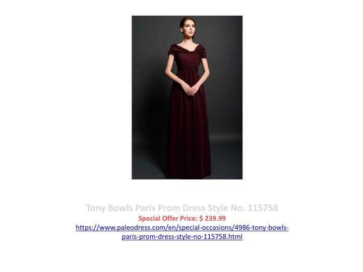 Tony Bowls Paris Prom Dress Style No. 115758