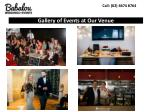 gallery of events at our venue