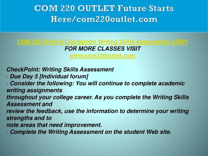 COM 220 OUTLET Future Starts Here/com220outlet.com