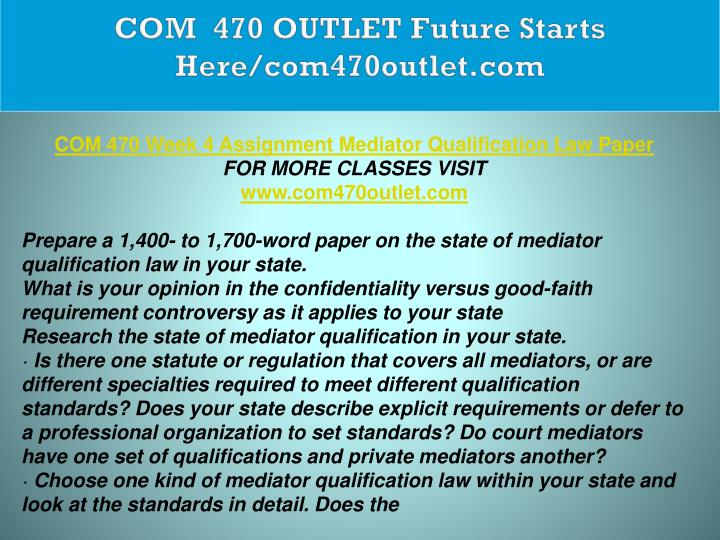 COM  470 OUTLET Future Starts Here/com470outlet.com
