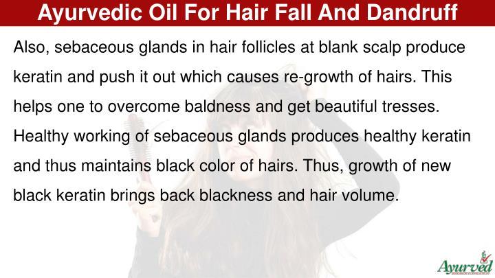 Ayurvedic Oil For Hair Fall And Dandruff